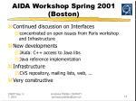 aida workshop spring 2001 boston