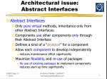 architectural issue abstract interfaces