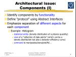 architectural issue components i