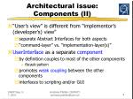 architectural issue components ii