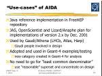 use cases of aida