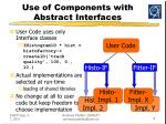 use of components with abstract interfaces