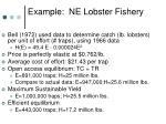 example ne lobster fishery