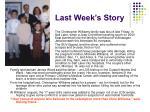 last week s story