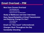 email overload pim