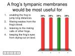 a frog s tympanic membranes would be most useful for