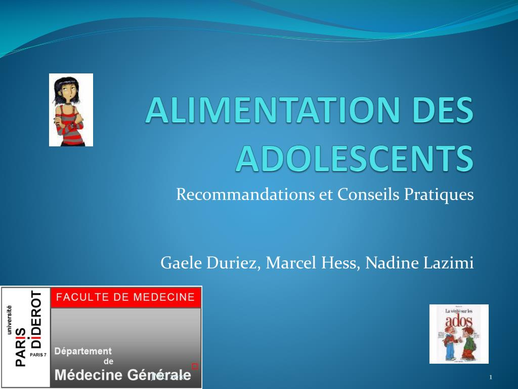 alimentation des adolescents l.