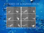 studies of locomotion