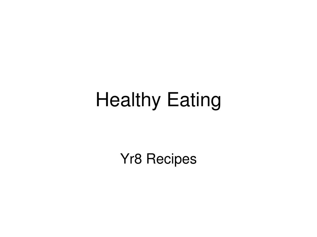 healthy eating l.