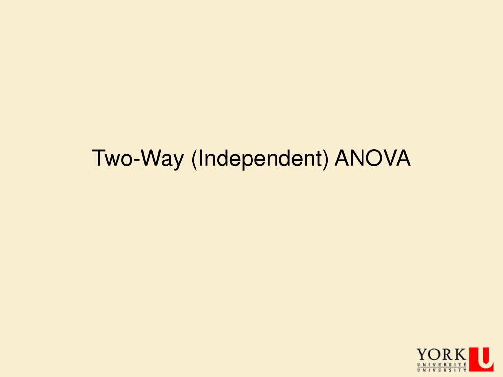 two way independent anova l.