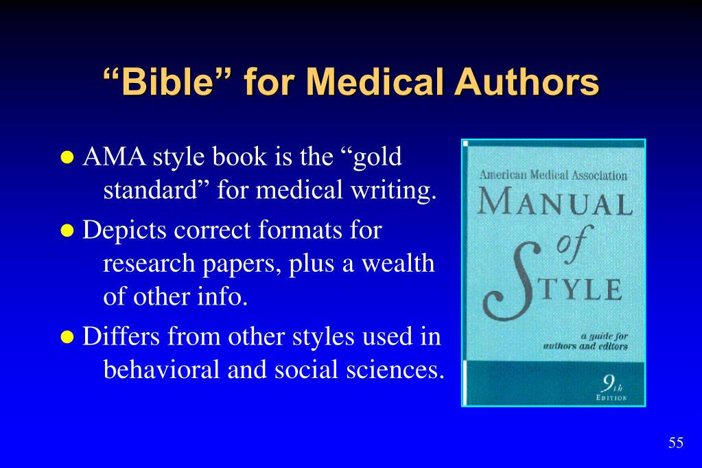 """""""Bible"""" for Medical Authors"""