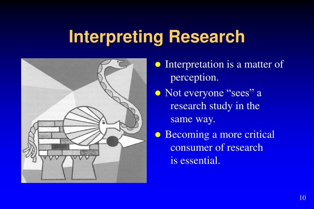 Interpreting Research