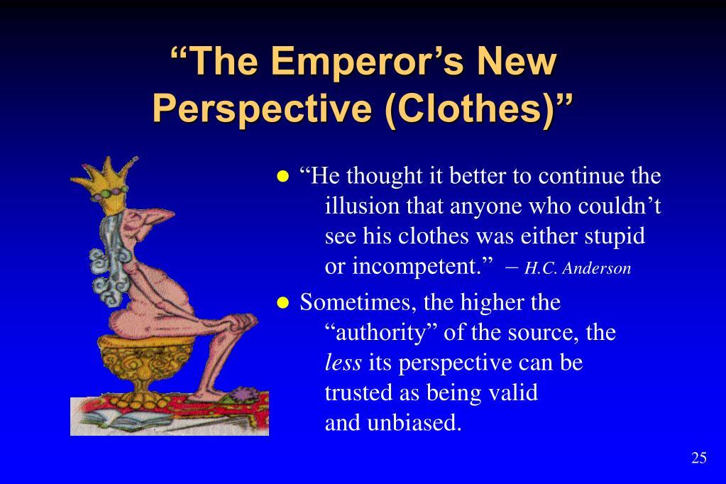 """The Emperor's New"