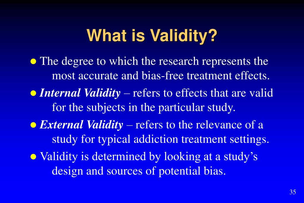 What is Validity?