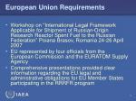 european union requirements