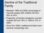 decline of the traditional family