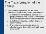 the transformation of the family