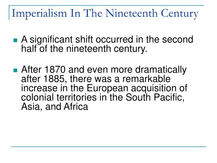 Imperialism in the nineteenth century