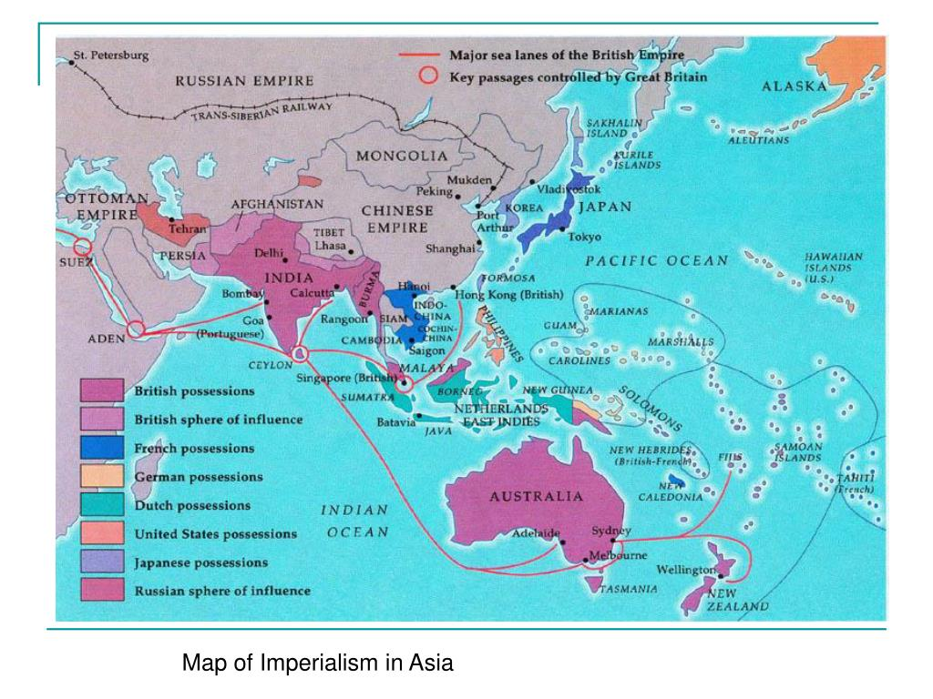 Map of Imperialism in Asia