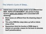 the infant s cycle of sleep