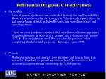 differential diagnosis considerations