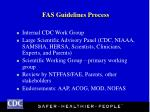 fas guidelines process