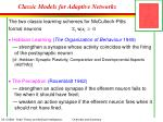 classic models for adaptive networks