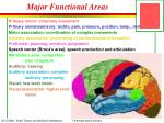 major functional areas