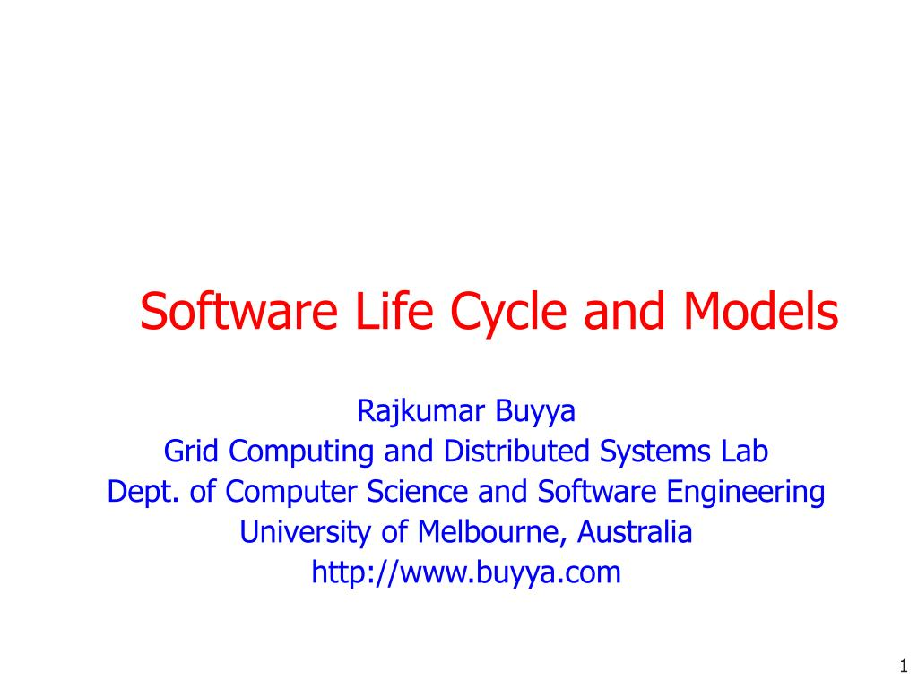 software life cycle and models l.