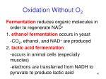 oxidation without o 240