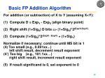 basic fp addition algorithm