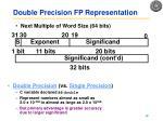 double precision fp representation