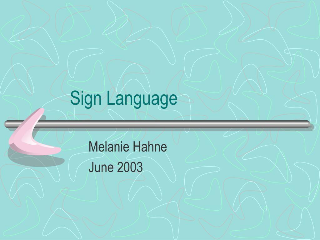 sign language l.