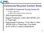 continental recycled content study