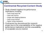 continental recycled content study66