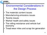 environmental considerations in the design process
