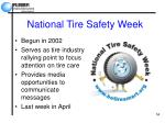 national tire safety week