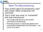 new tire manufacturing
