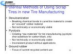 potential methods of using scrap tires in new tire manufacturing