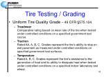 tire testing grading