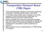transportation research board trb report