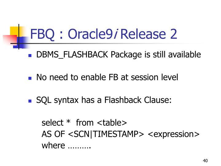 FBQ : Oracle9