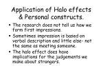 application of halo effects personal constructs