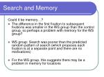 search and memory