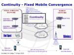 continuity f ixed mobile convergence