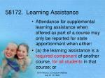 58172 learning assistance