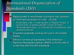 international organization of standards iso