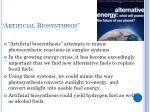 artificial biosynthesis