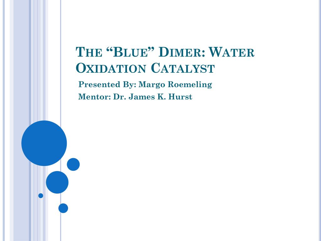 the blue dimer water oxidation catalyst l.