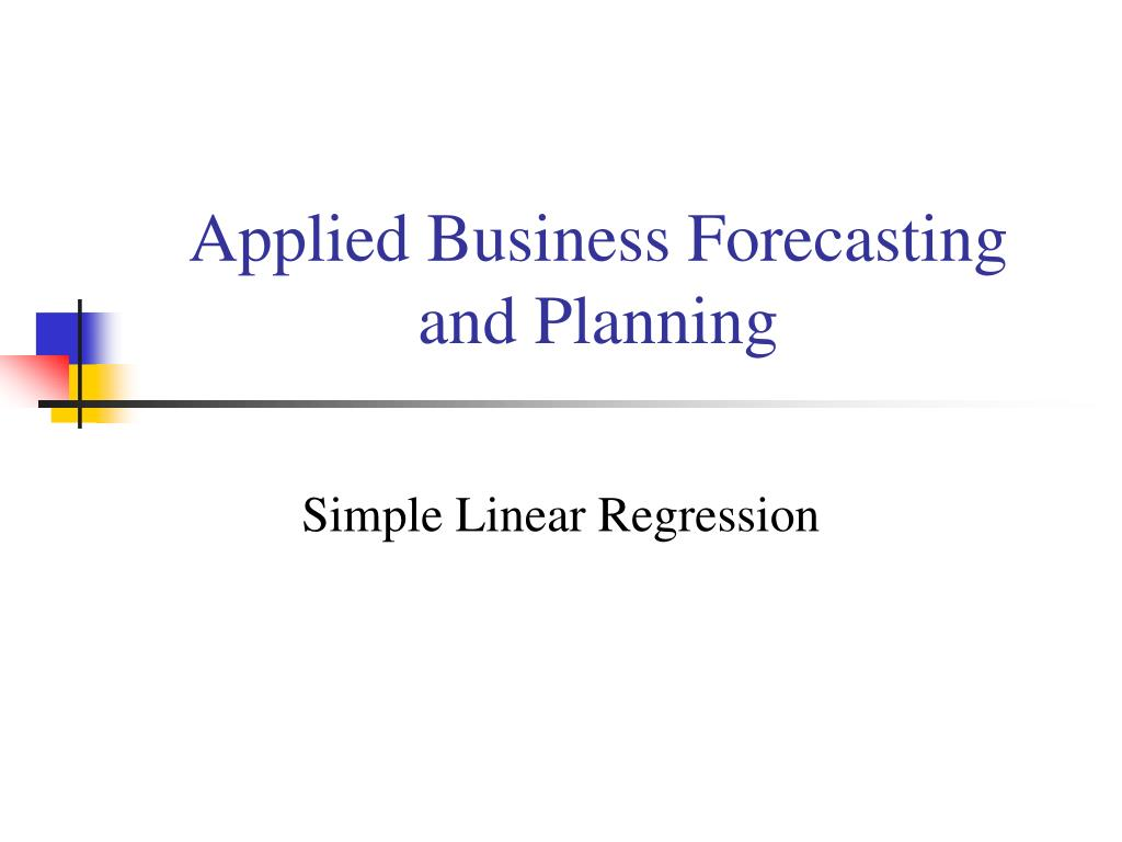 applied business forecasting and planning l.